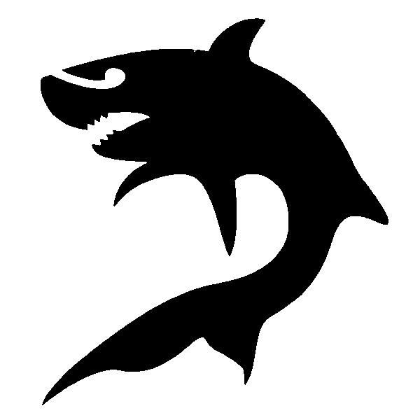 Glitter Tattoo Stencil - Shark
