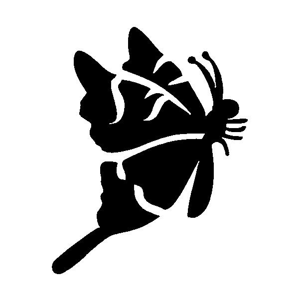 Glitter Tattoo Stencil - Butterfly side on