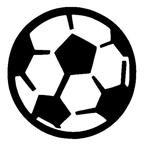Glitter Tattoo Stencil - Soccer Ball