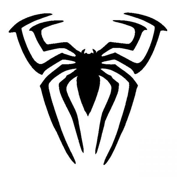 Glitter Tattoo Stencil - Spiderman Spider