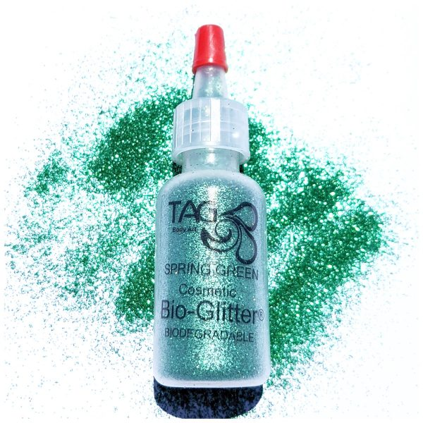 TAG Fine Cosmetic BIO-Glitter 15ml Puffer Bottle – Spring Green