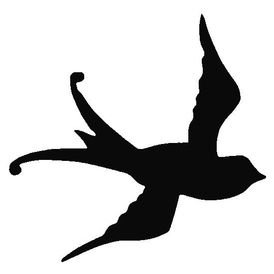 Glitter Tattoo Stencil - Swallow