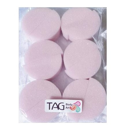 TAG Medium Density Half-circle Face Painting Sponges - 12 Pack