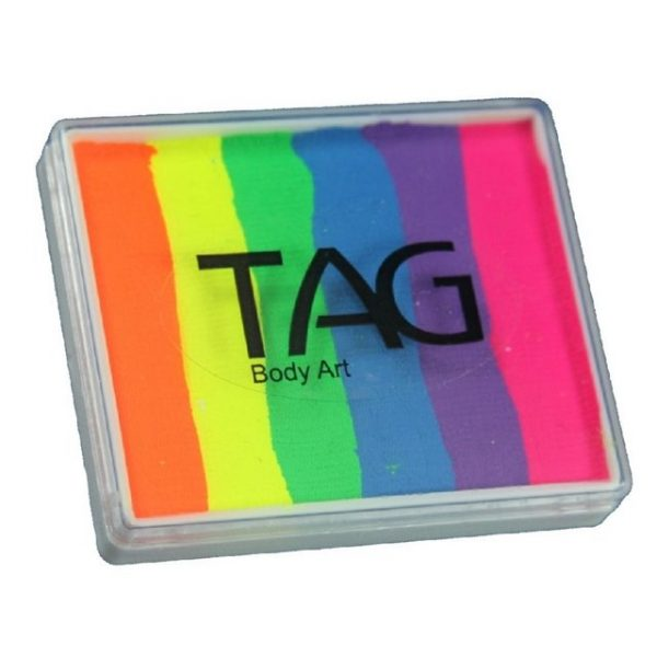 TAG split-cake face paint - Neon Rainbow 50g