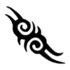 Glitter Tattoo Stencil - Tribal