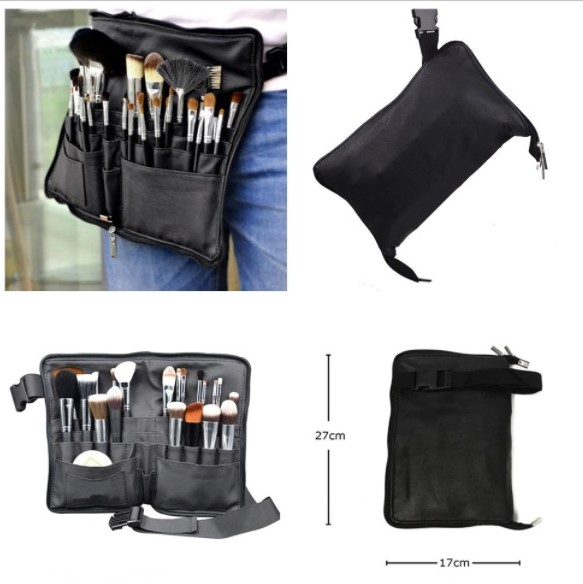 Wearable Brush Wallet with zipper