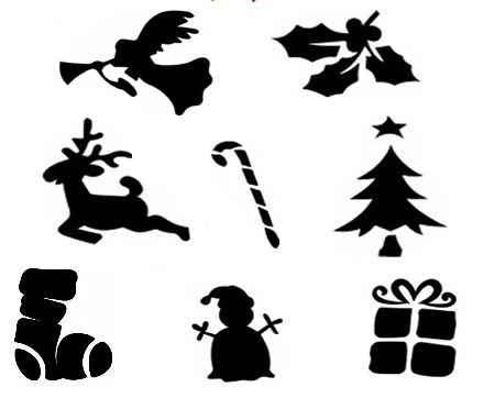 Glitter Tattoo Stencil set - CHRISTMAS