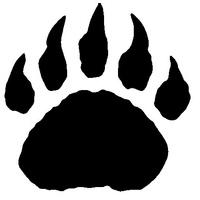 Glitter Tattoo Stencil - Bear Claw