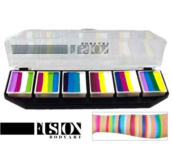 Fusion One-Stroke Palette (6x 1 inch split-cakes) - Colour Punch