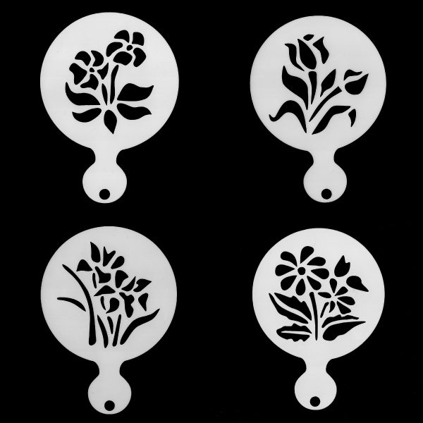 Face Painting Stencil - Flowers - set of 4 stencils