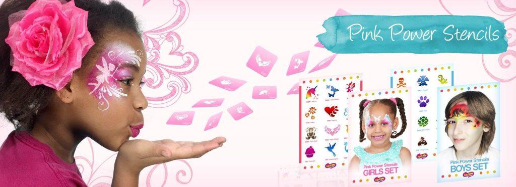 pink power stencils