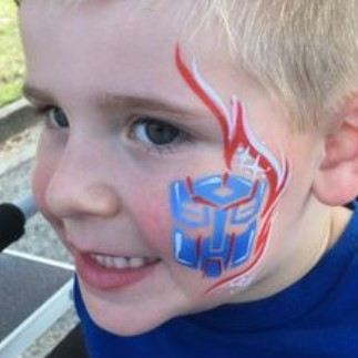 """Diva Face Painting Stencil - Transformers """"Changing Car set"""""""