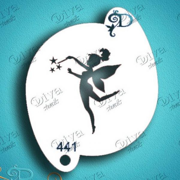 Diva Tinkerbell Fairy Fun Face Painting Stencil