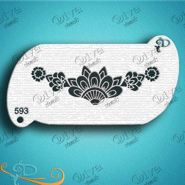 Diva Forehead Henna Band Face Painting Stencil