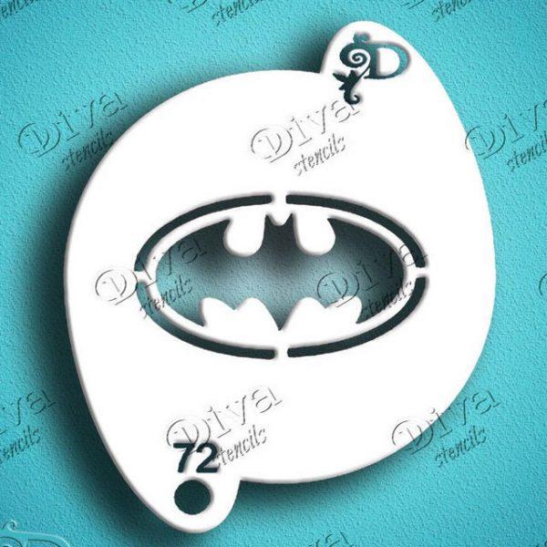 Diva Batman Face Painting Stencil
