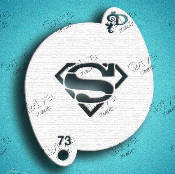 Diva Superman Face Painting Stencil