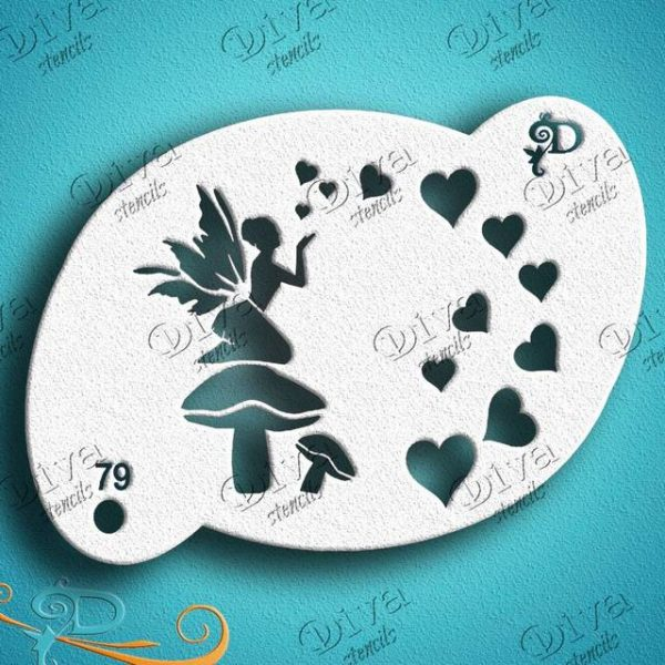 Diva Love Fairy Face Painting Stencil