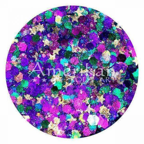 ABA Mardi Gras Pixie Paint Chunky Glitter Gel 1oz