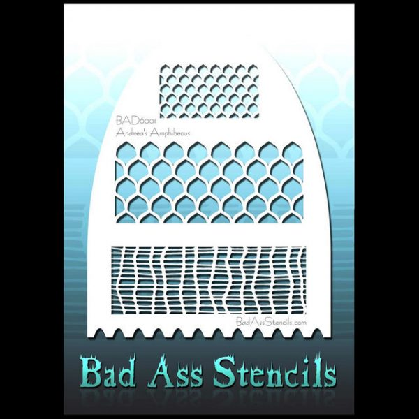 Bad Ass Body Painting Stencil BAD 6001 Amphibeous