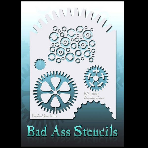 Bad Ass Body Painting Stencil BAD 6007 Gears
