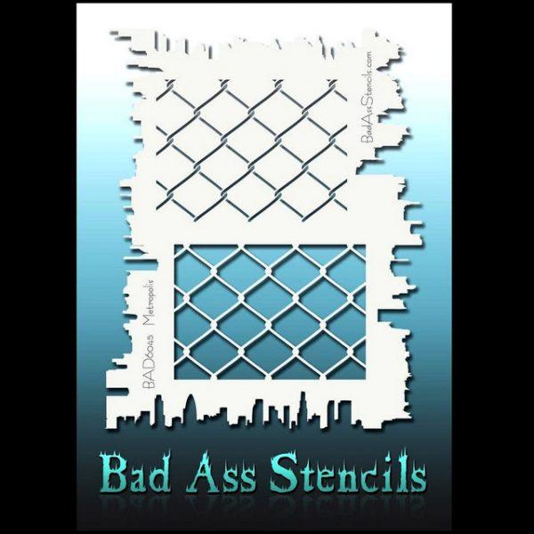 Bad Ass Body Painting Stencil BAD 6045 Metropolis