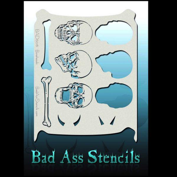 Bad Ass Body Painting Stencil BAD 6078 Boneheadz