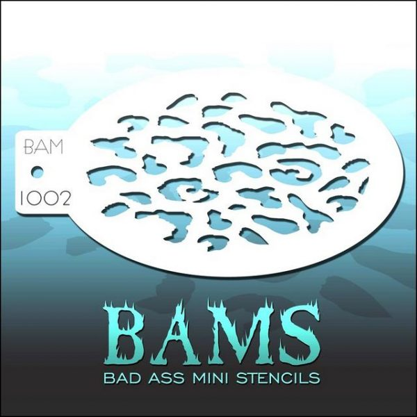 Bad Ass Mini Face Painting Stencil BAM 1002 Leopard Spots