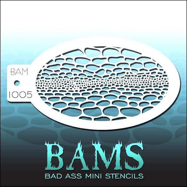 Bad Ass Mini Face Painting Stencil BAM 1005 Snake Skin