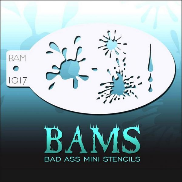 Bad Ass Mini Face Painting Stencil BAM 1017 Splat!