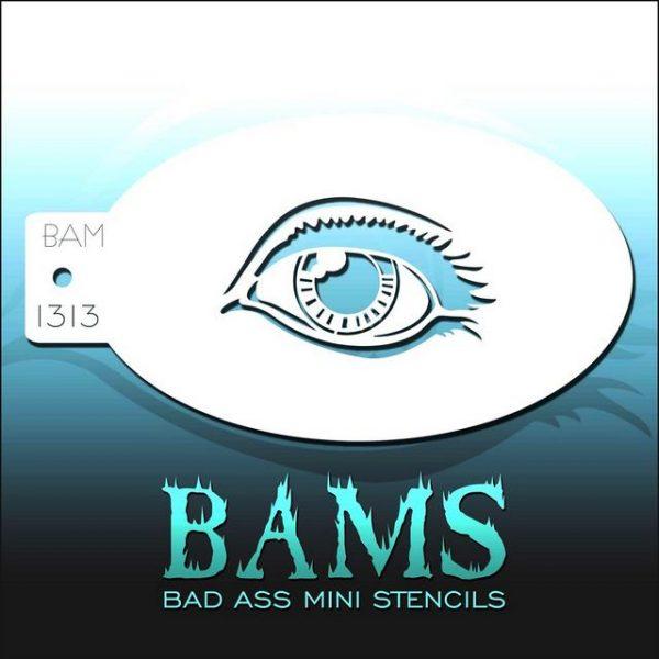 Bad Ass Mini Face Painting Stencil BAM 1313 Eye