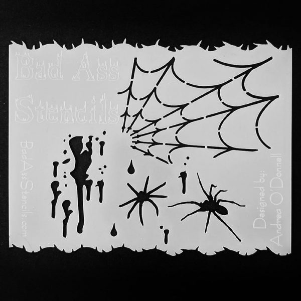 Bad Ass Spooky Spider Limited Edition Halloween face painting stencil