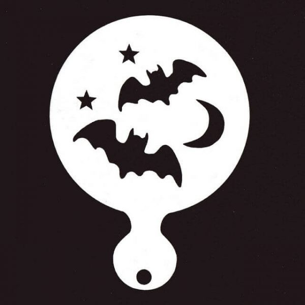 Bats and moon painting stencil