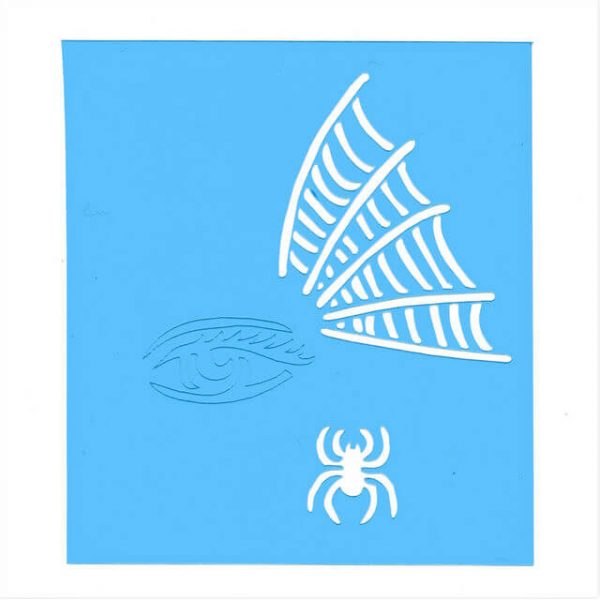 Face Painting Stencil - Spider Eye