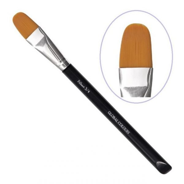Global Colours Filbert face painting brush 3 qtr inch