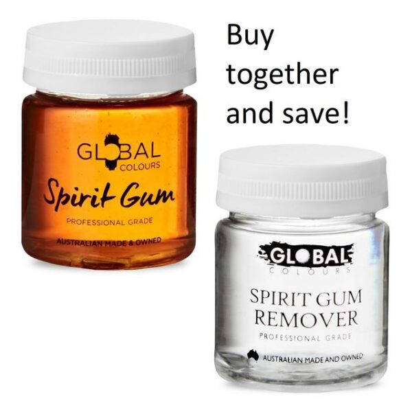 Global Colours Spirit Gum and remover 45ml set