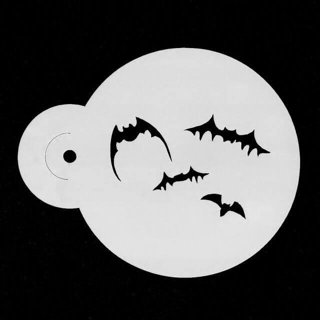 Halloween Bats face painting stencil