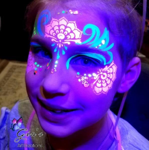 Henna Crown Tap Face Painting Stencil design by Gio Guzman