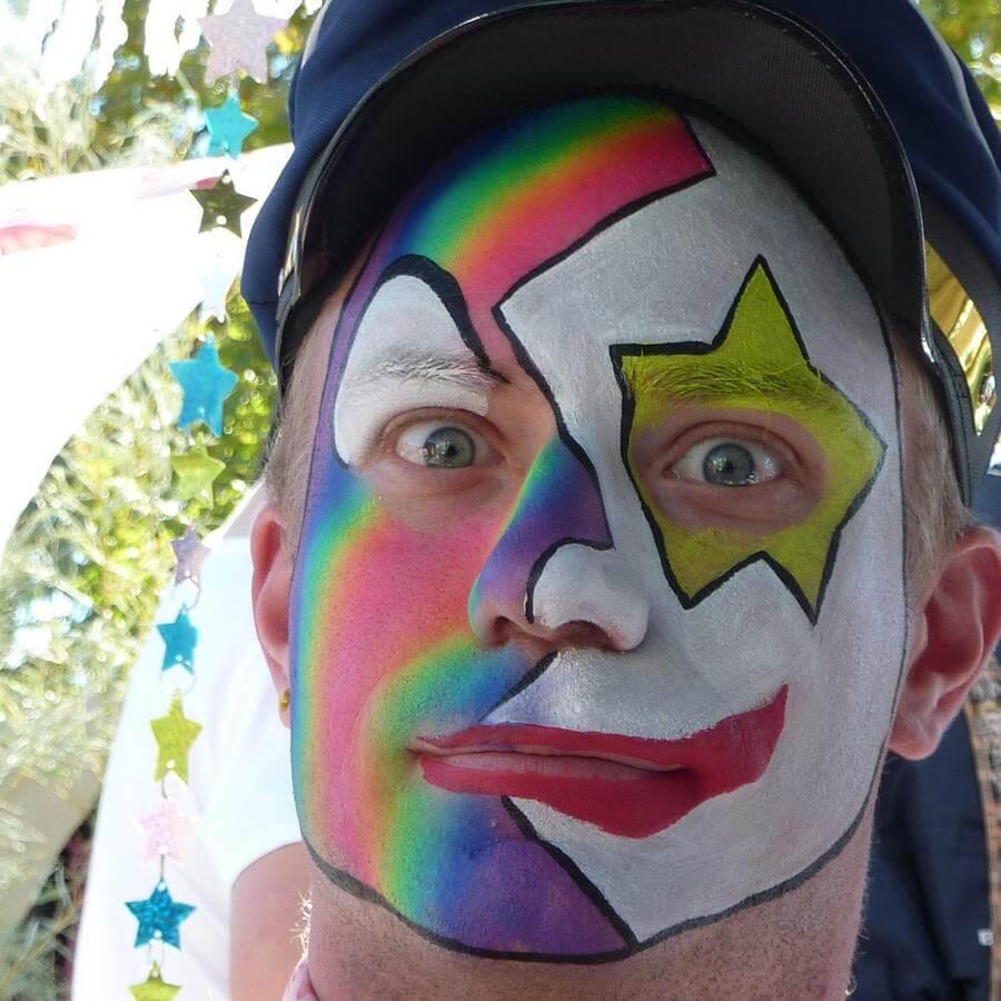 Face Paint World Bright Rainbow split-cake Festival Clown face painting
