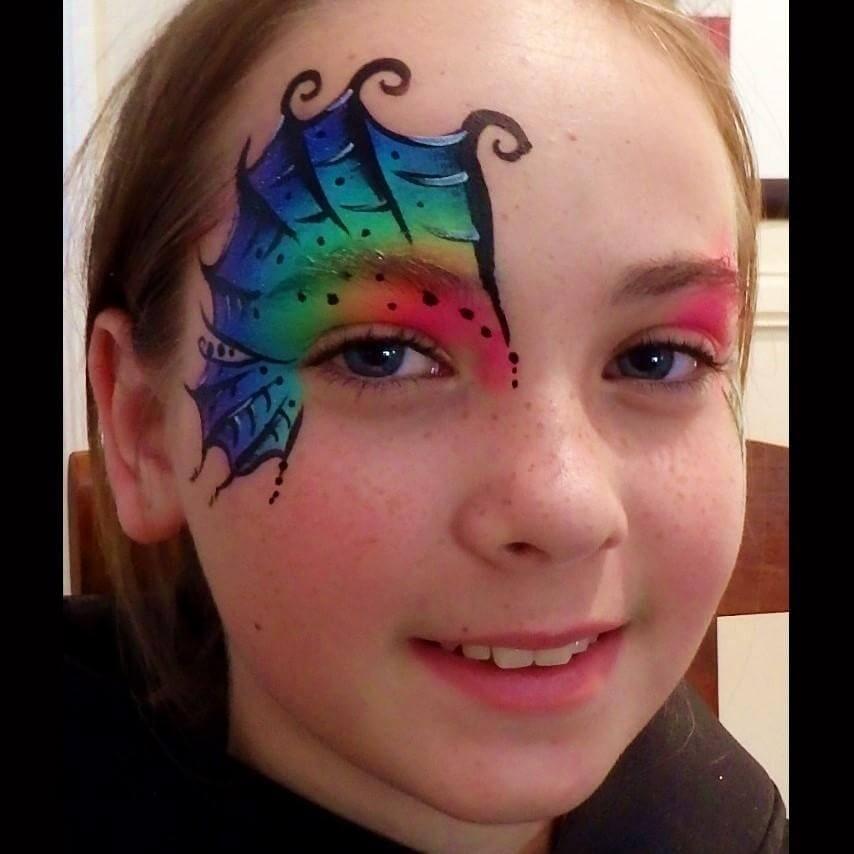 Face Paint World Bright Rainbow split-cake Halloween face painting