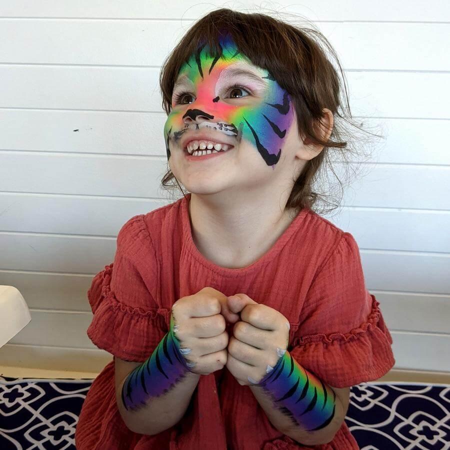 Face Paint World Bright Rainbow split-cake Rainbow Tiger face painting