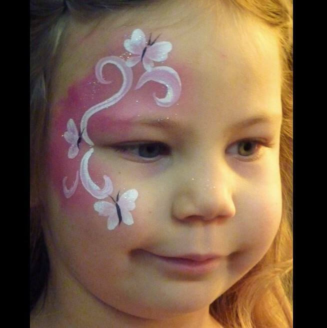 TAG Pearl Rose Butterfly-Fairy quick face painting design
