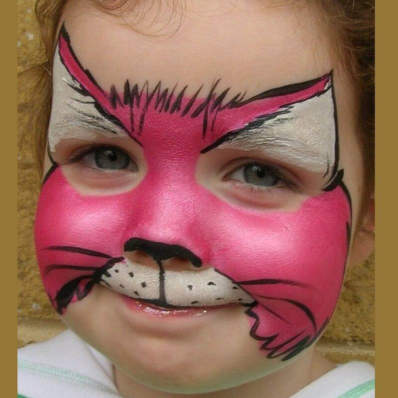 TAG Pearl Rose Cat face painting design