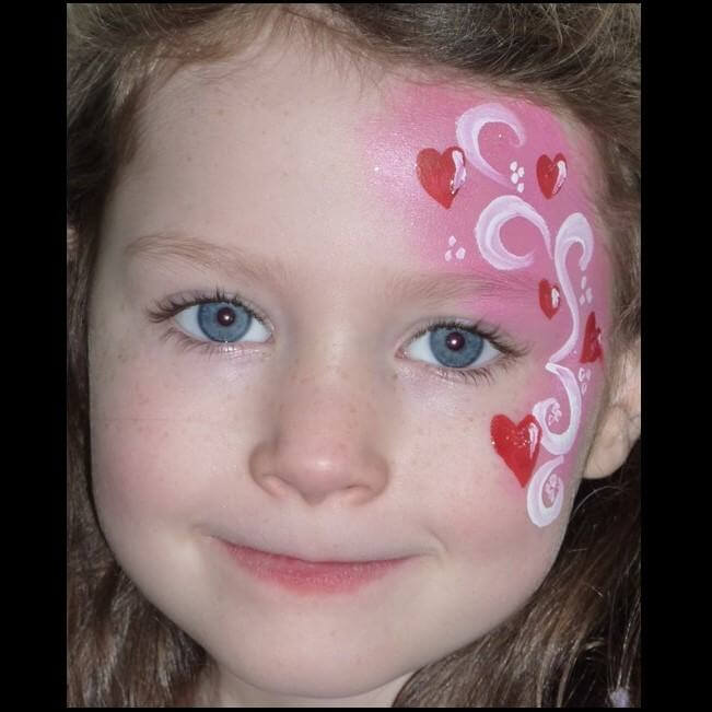 TAG Pearl Rose Love Fairy quick face painting design