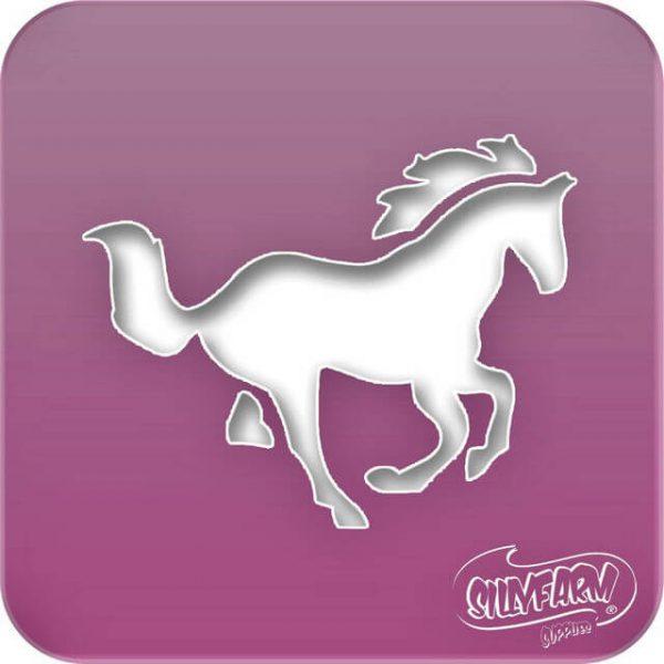 Pink Power HORSE face paint stencil
