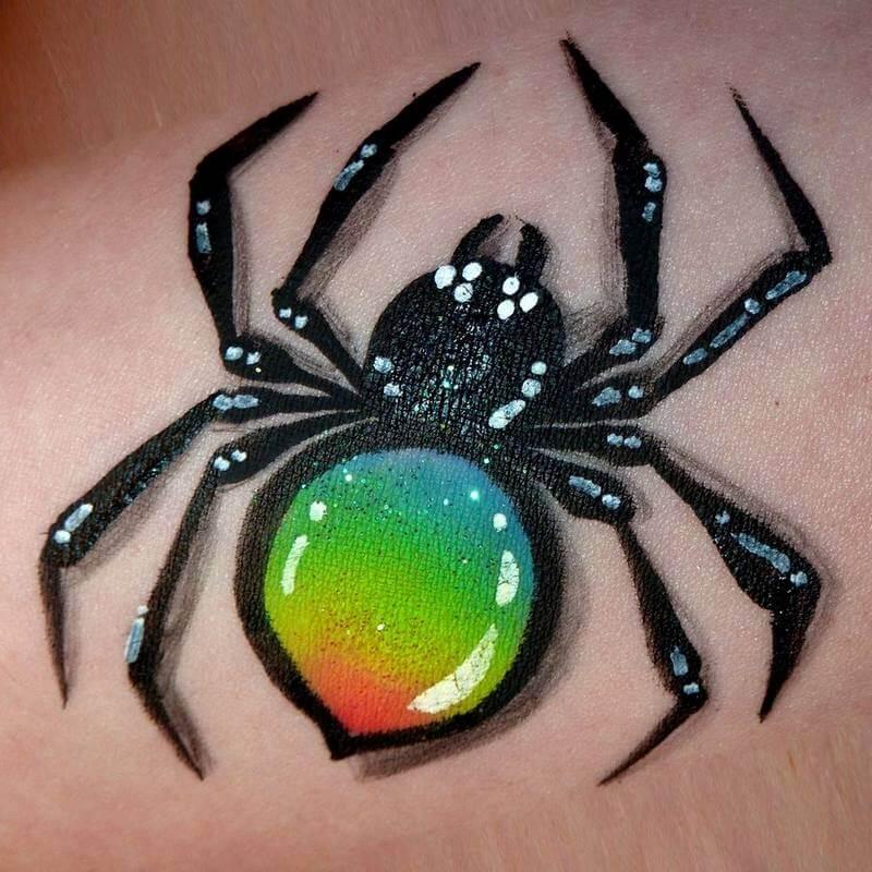 Rainbow Spider in TAG True Rainbow One-stroke