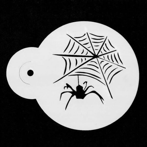 Spider and Web face painting stencil