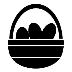 TAG Easter Basket glitter tattoo stencil