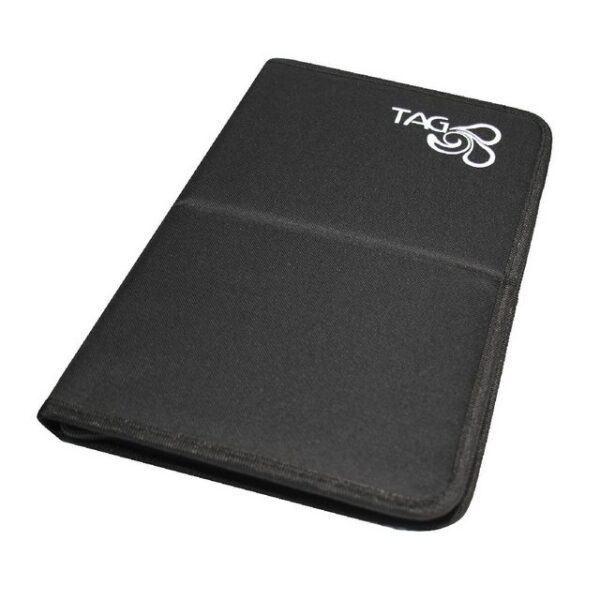 Tag large Brush Wallet with zipper