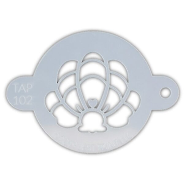 Tap Face Painting Stencil TAP102 Mermaid Crown Clam Shell