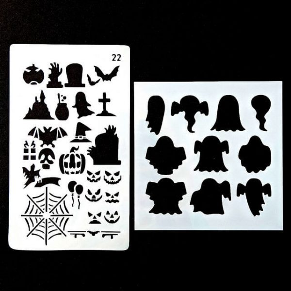 Things That Go Bump In The Night Halloween face painting stencil set